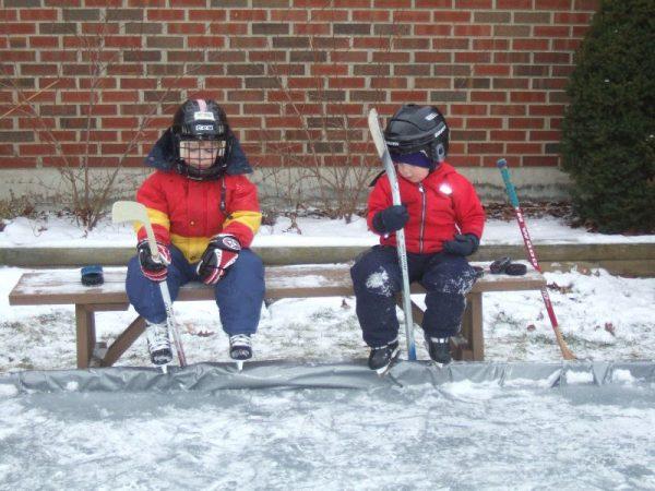 Backyard Ice Rink Into Springtime